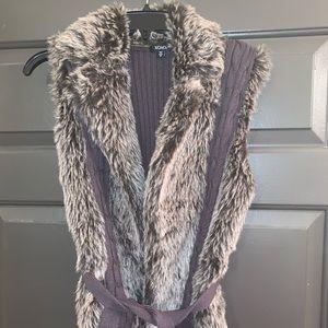 Faux Fur Vest Wrap